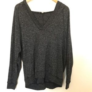 Express One Eleven Comfy Grey Hoodie